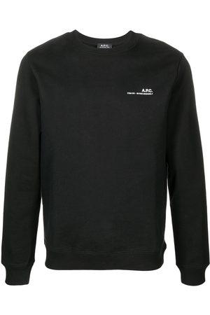 A.P.C. Logo-print cotton sweatshirt