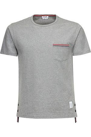 Thom Browne T-shirt Aus Baumwolljersey Mit Streifendetails