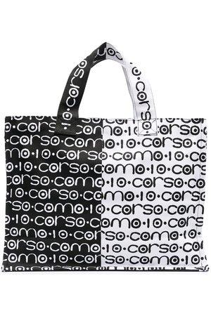 10 CORSO COMO Two-tone logo canvas bag