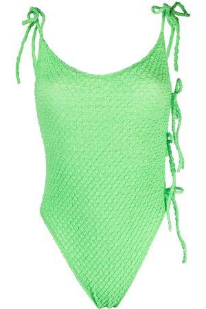 Ack Textured slim-cut swimsuit