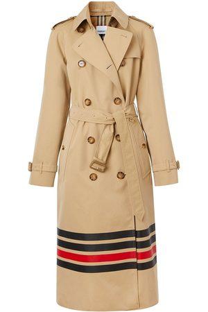 Burberry Stripe detail gabardine trench coat