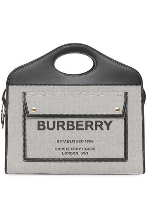 Burberry Medium canvas Leather Pocket bag