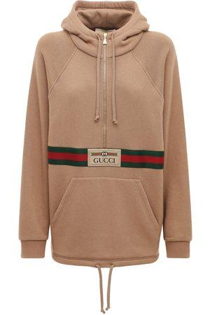 Gucci Hoodie Aus Baumwolljersey Mit Logo