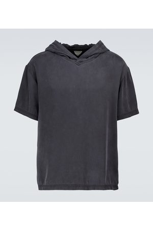 Bottega Veneta T-Shirt aus Seide mit Kapuze