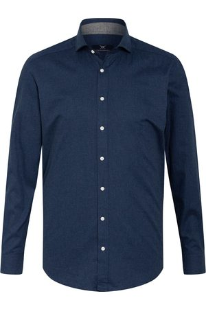 STROKESMAN'S Herren Freizeit - Flanellhemd Slim Fit blau