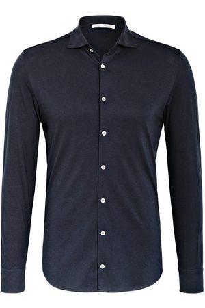 STEFAN BRANDT Herren Freizeit - Jerseyhemd Otis Slim Fit blau
