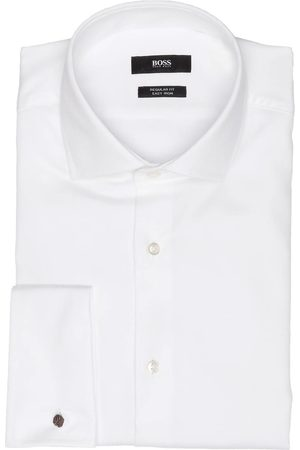 HUGO BOSS Herren Business - Hemd Gardner Regular Fit weiss