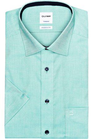 Olymp Halbarm-Hemd Tendenz Modern Fit gruen