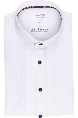 Olymp Herren Business - Jerseyhemd Level Five 24/7 Body Fit weiss