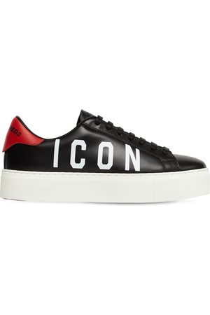 "Dsquared2 Damen Sneakers - 35mm Hohe Ledersneakers ""new Tennis"""