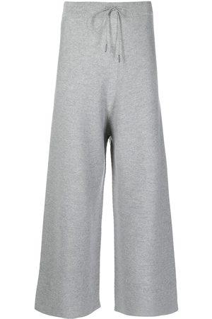 Fabiana Filippi Cropped wide-leg knit trousers
