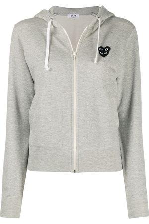 Comme des Garçons Damen Sweatshirts - Overlapping heart hoodie