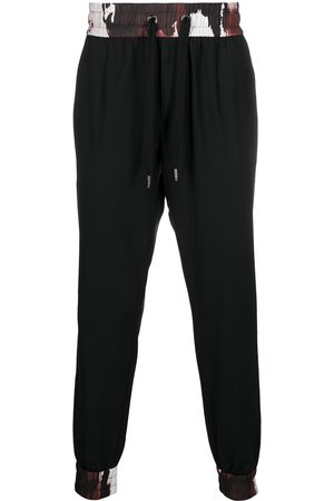 Dolce & Gabbana Camouflage-trim drawstring track trousers