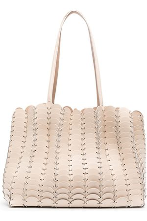 Paco rabanne Chain-link leather tote bag