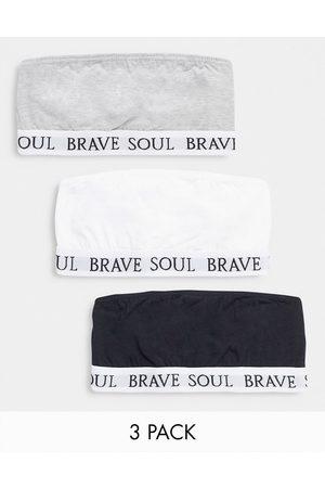 Brave Soul 3 pack bandeau bralettes