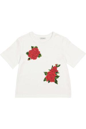 Dolce & Gabbana Besticktes T-Shirt aus Baumwolle