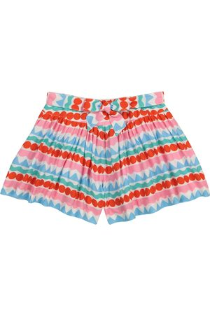 Stella McCartney Bedruckte Shorts aus Crêpe
