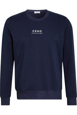 Mey Lounge-Sweatshirt Serie Home Office blau
