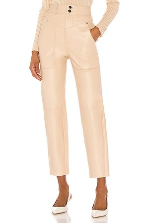Song of Style Seana Leather Pant in - Neutral. Size L (also in M, S, XL, XS, XXS).