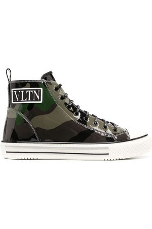 VALENTINO GARAVANI Giggies camouflage high-top sneakers