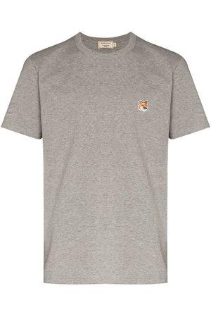 Maison Kitsuné Fox-patch crew-neck T-shirt