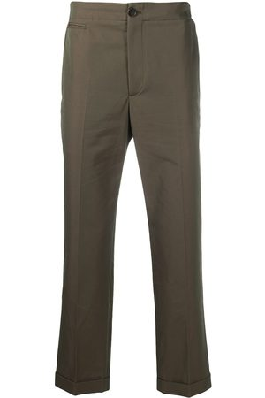 Alexander McQueen Logo-tape detail chino trousers