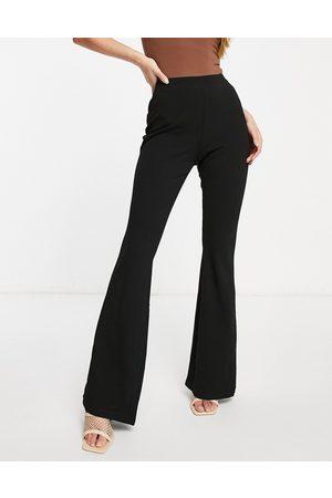 ASOS Hourglass jersey slim kick flare suit trouser-Black