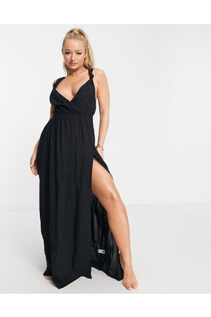 ASOS Recycled knot strap maxi beach dress in