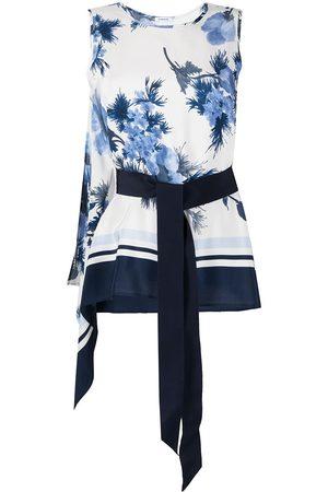 P.a.r.o.s.h. Damen Blusen - Floral-print silk blouse
