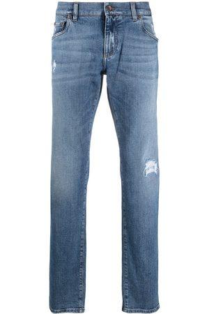 Dolce & Gabbana Logo-patch denim jeans