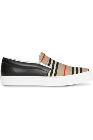 Burberry Icon-stripe slip-on sneakers