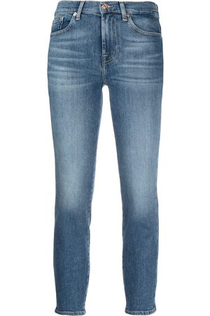 7 for all Mankind Mid-rise skinny cropped jeans