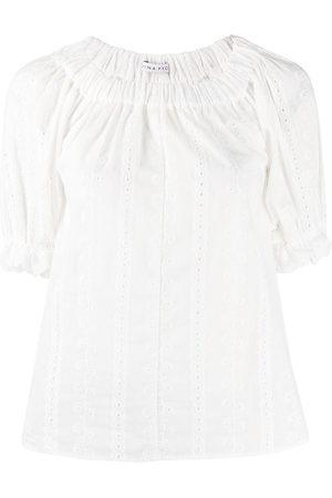 REJINA PYO Damen Blusen - Smocked-collar blouse