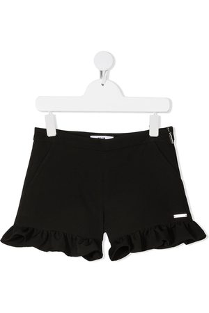 Msgm Shorts - Ruffle-trim side-zip shorts