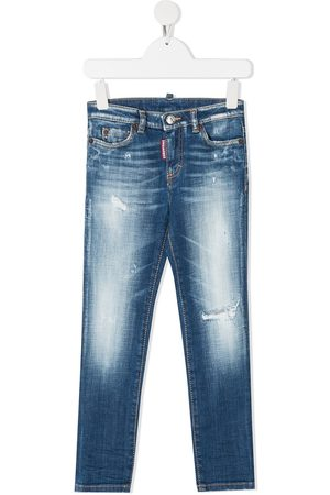 Dsquared2 Distressed effect light-wash jeans