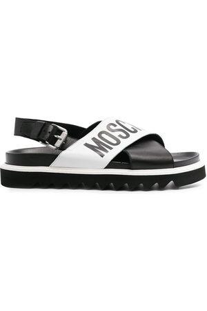 Moschino Herren Sandalen - Cross-over logo sandals