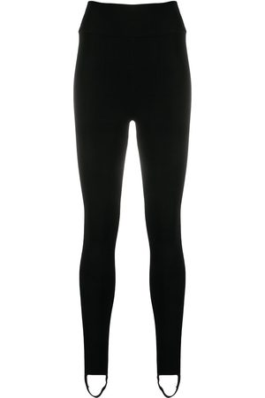 Victoria Beckham Damen Leggings & Treggings - Ribbed-detail knitted leggings