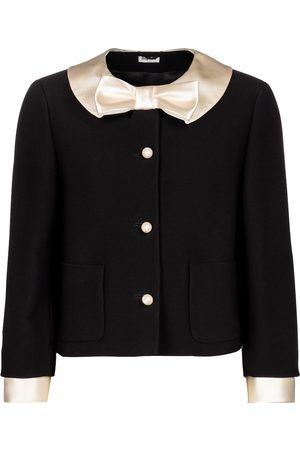 Miu Miu Damen Blazer & Sakkos - Jacke aus Cady und Satin