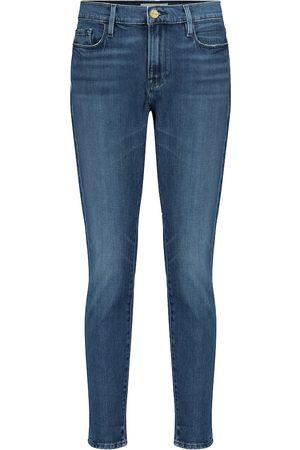Frame Mid-Rise Skinny Jeans Le Garçon