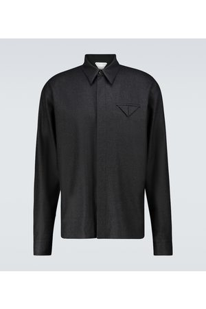 Bottega Veneta Flanellhemd aus Wolle