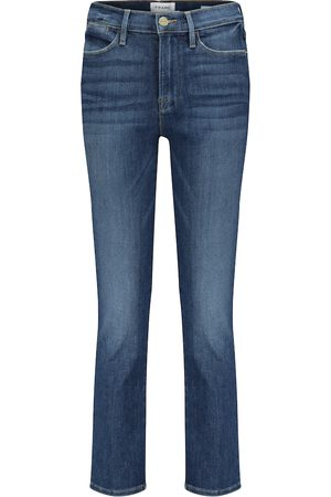 Frame Cropped Straight Jeans Le High