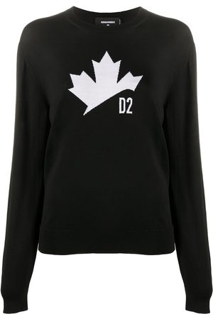 Dsquared2 Damen Strickpullover - Logo-print knitted jumper