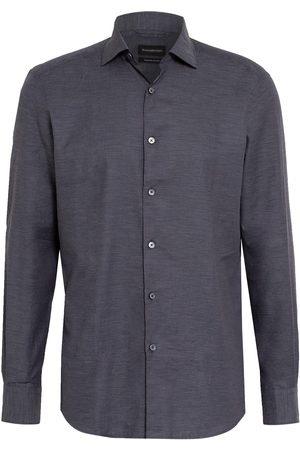Ermenegildo Zegna Herren Freizeit - Hemd Regular Fit grau