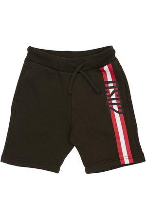 Dsquared2 Shorts Aus Baumwollfleece Mit Druck