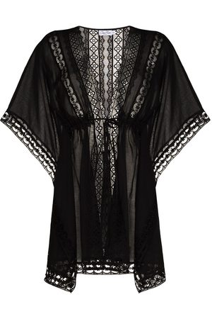 CHARO RUIZ IBIZA Embroidered detail tied waist cover-up