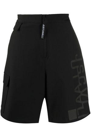 Roberto Cavalli Herren Kurze Hosen - Logo-print high rise shorts