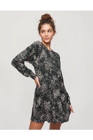 Miss Selfridge Animal print smock dress in