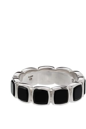 TOM WOOD Herren Ringe - Onyx embellished band ring