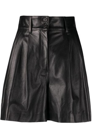Dolce & Gabbana High-waisted leather shorts