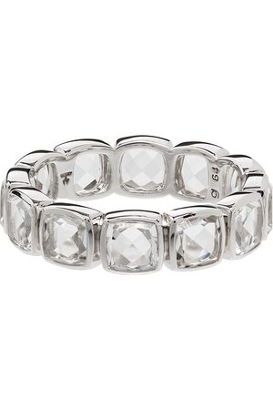 TOM WOOD Cushion Band Rock crystal-embellished ring